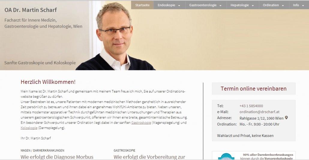 Praxis-Homepage, Suchmaschinenoptimierung und Website Design Wien