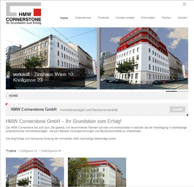 Webdesign für Immobilien Bauherren Homepage in Wien