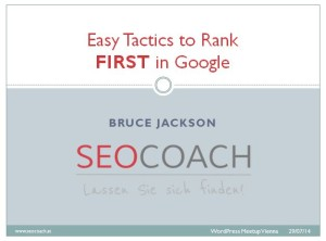 easy tactics to rank first in google