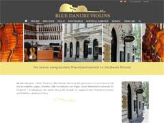 Webdesign und SEO für Blue Danube Violins, Wien